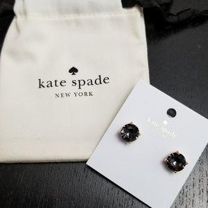 Kate Spade Gumdrop Earrings Black Diamond